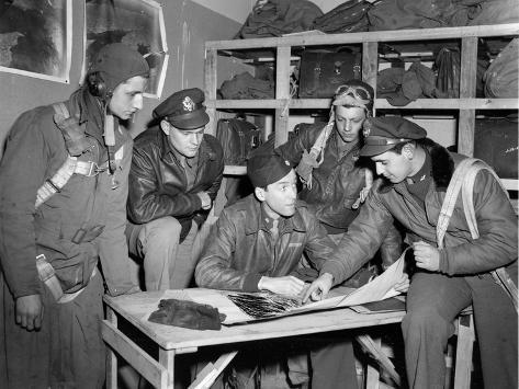 WWII U.S. Squadron Maj. Stewart Photographic Print