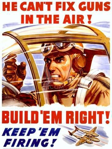Wwii Us Homefront Keep Em Firing Poster Giclee Print At