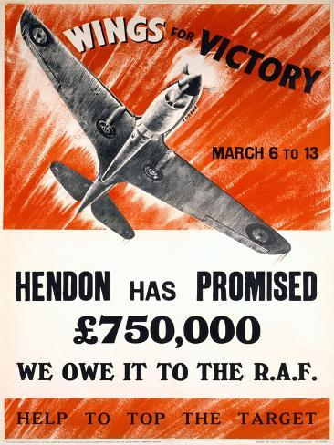 WWII 'Wings for Victory' Production Poster Giclee Print