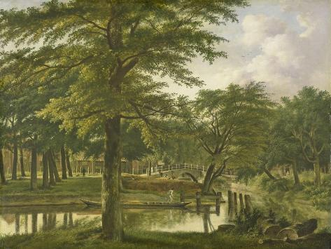 View of the New Canal in the Stronghold in Haarlem Art Print