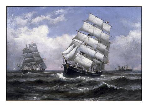 Grandes Navios Impressão giclée