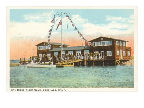 Yacht Club, Coronado, San Diego, California Art Print