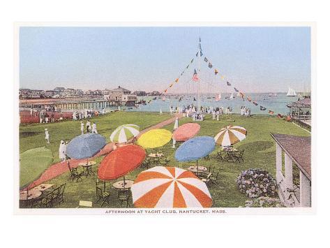 Yacht Club, Nantucket, Massachusetts Art Print