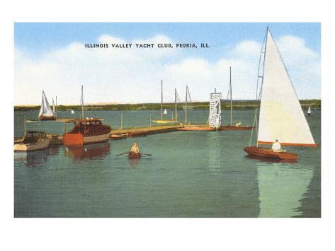 Yacht Club, Peoria, Illinois Art Print