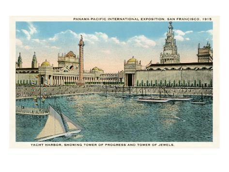 Yacht Harbor, World's Fair, San Francisco, California Art Print