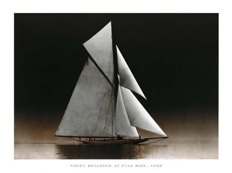 Yacht Reliance at Full Sail, c.1903 Art Print