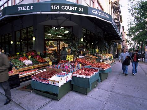 Grocery Shop, Brooklyn, New York, New York State, USA Photographic Print