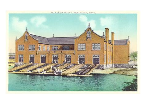 Yale Boat House, New Haven, Connecticut Art Print