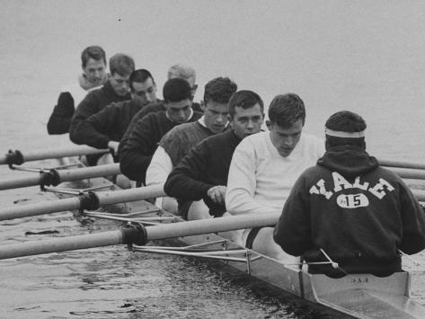 Yale Crew Rowing During Training Photographic Print