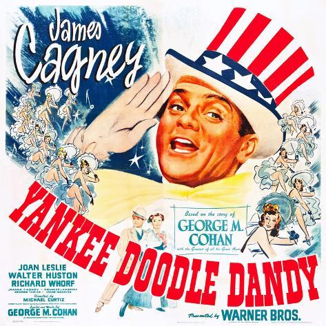 Yankee Doodle Dandy, US poster, James Cagney, 1942 Impressão artística