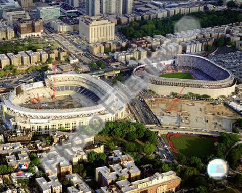 Yankee Stadium - 2008 New & Old Stadium Framed Photographic Print