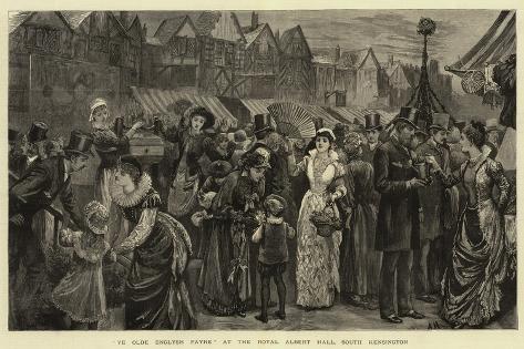 Ye Olde Englysh Fayre at the Royal Albert Hall, South Kensington Giclee Print