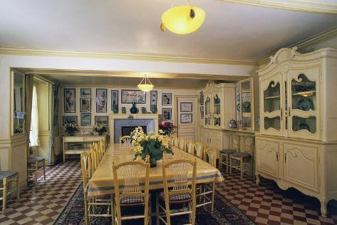 Yellow Dining Room In Claude Monetu0027s House (1840 1926), Giverny, Upper  Normandy, France