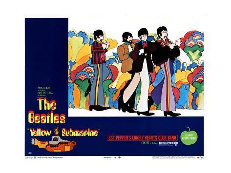 Yellow Submarine, 1968 Lámina giclée
