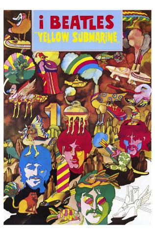 Yellow Submarine, Italian Movie Poster, 1968 Masterprint