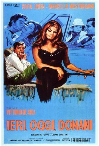 Yesterday, Today and Tomorrow - Italian Style Poster