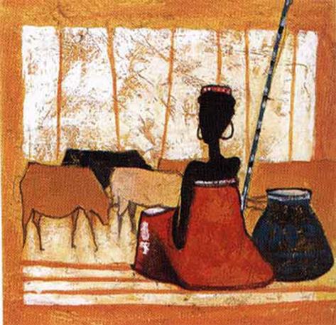 Tribal Fashion VI Art Print