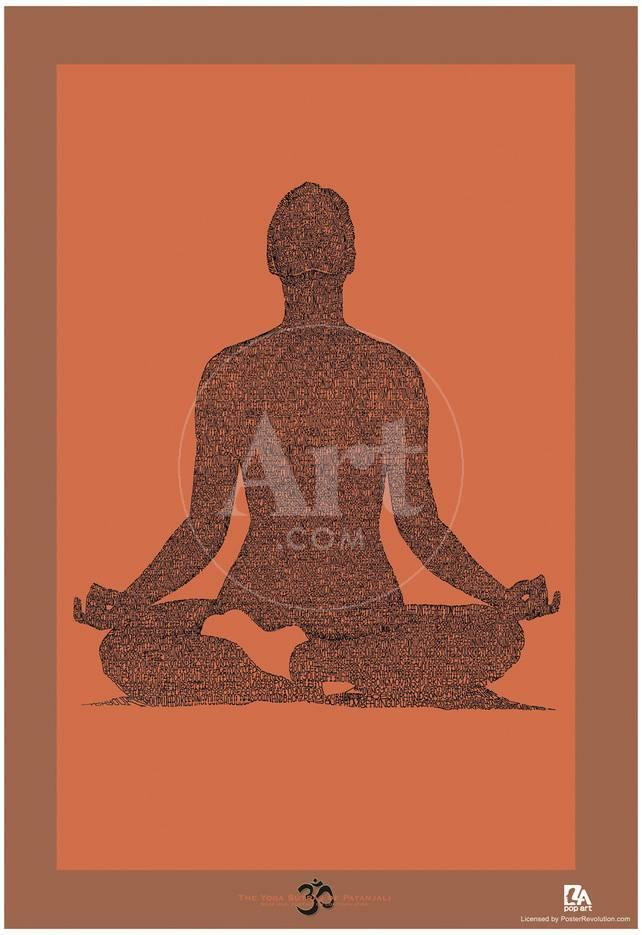 Yoga Sutras Of Patanjali Book 1 Text Poster Print Allposters Com