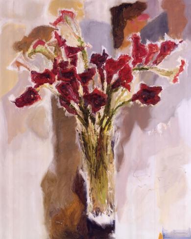 Red Calla Lilies Art Print