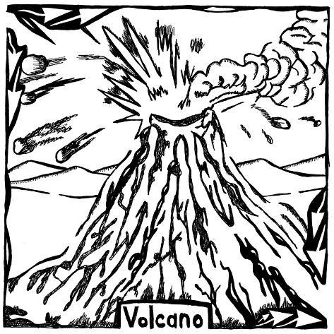 V is for Volcano Maze Poster