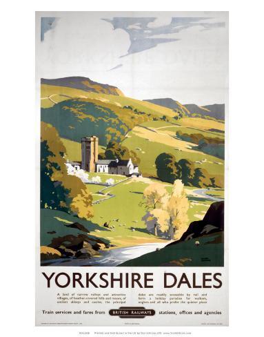 Yorkshire Dales, BR (NER), c.1953 Art Print