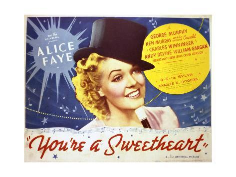 You're a Sweetheart - Lobby Card Reproduction Art Print