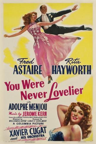 You Were Never Lovelier, Rita Hayworth, Fred Astaire, 1942 Art Print