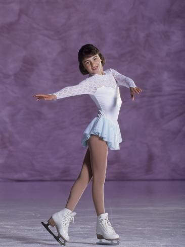 Young Female Figure Skater Photographic Print