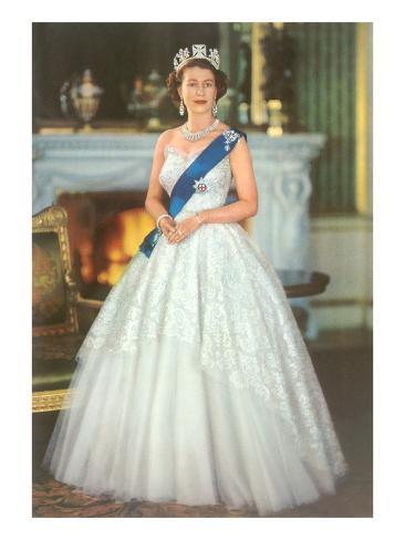 Young Queen Elizabeth Ii Print Allposters Co Uk