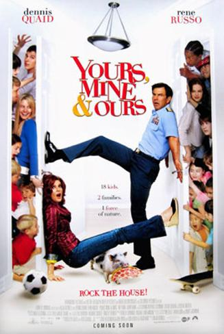 Yours, Mine And Ours Double-sided poster