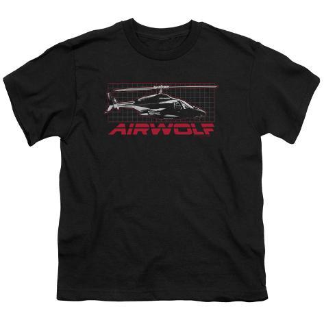 Youth: Airwolf - Airwolf Grid Kids T-Shirt