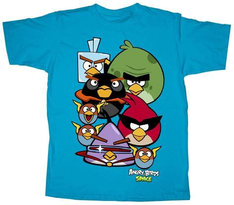 Youth: Angry Birds Space - Stares Kids T-Shirt