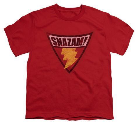 Youth: Batman BB-Shazam Shield Kids T-Shirt