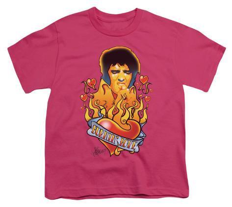 Youth: Elvis-Burning Love Kids T-Shirt