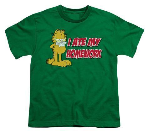 Youth: Garfield - I Ate My Homework Kids T-Shirt