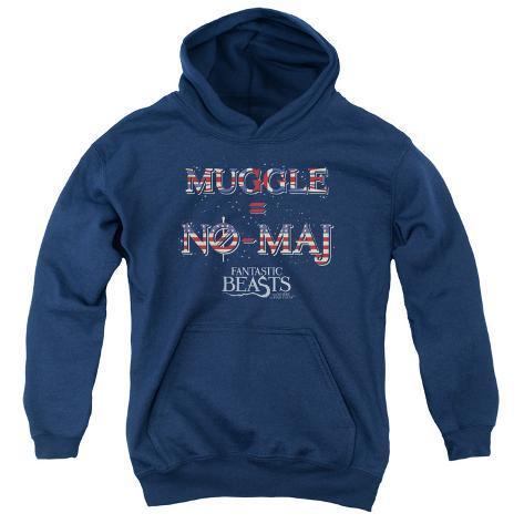 Youth Hoodie: Fantastic Beasts- Muggle = No Maj Pullover Hoodie