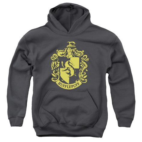 Youth Hoodie: Harry Potter- Hufflepuff Crest Pullover Hoodie