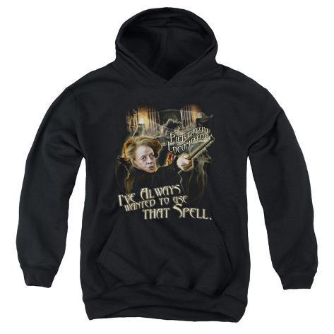 Youth Hoodie: Harry Potter- Mcgonagall Piertotum Locomotor Pullover Hoodie