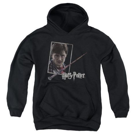 Youth Hoodie: Harry Potter- Wand And Portrait Pullover Hoodie