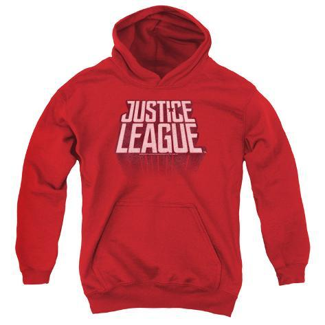 Youth Hoodie: Justice League Movie - League Distressed Pullover Hoodie