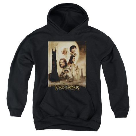 Youth Hoodie: Lord of the Rings - Two Towers Poster Pullover Hoodie