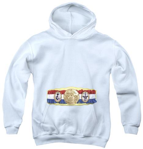 Youth Hoodie: Rocky - Championship Belt(Bottom Front) Pullover Hoodie