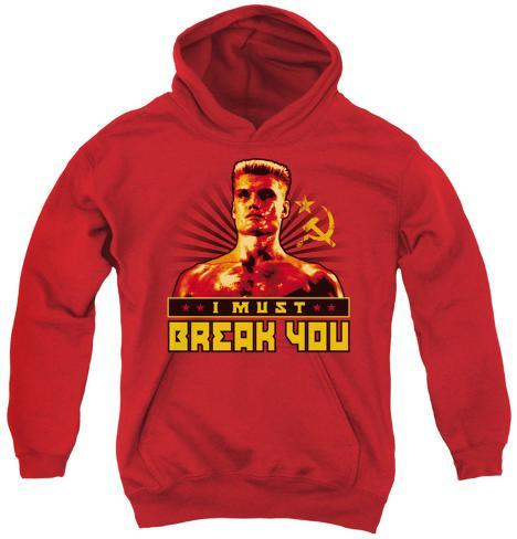 Youth Hoodie: Rocky - I Must Break You Pullover Hoodie