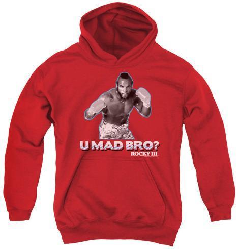 Youth Hoodie: Rocky - U Mad Bro Pullover Hoodie