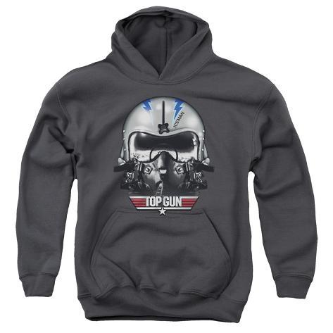 Youth Hoodie: Top Gun - Iceman Helmet Pullover Hoodie