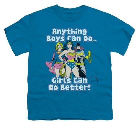 Youth: Justice League - Girls Can Do Better Kids T-Shirt