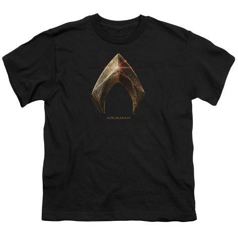 Youth: Justice League Movie - Aquaman Logo Kids T-Shirt