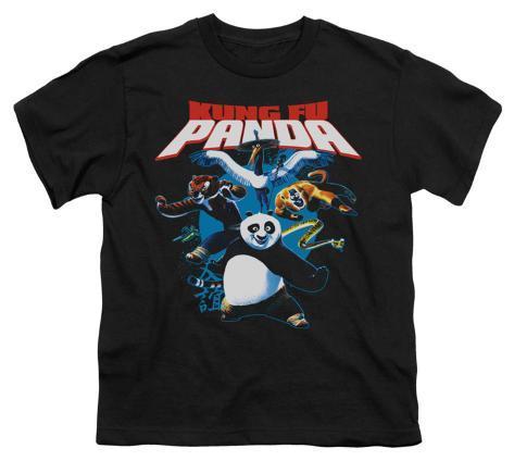 Youth: Kung Fu Panda - Kung Fu Group Kids T-Shirt