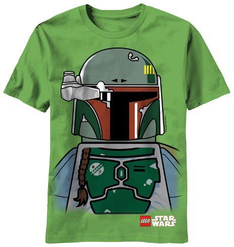 Youth: Lego Star Wars - Boba Lego Face T-Shirt