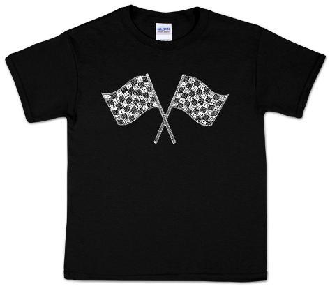 Youth: Nascar Racing Flags Word art Kids T-Shirt